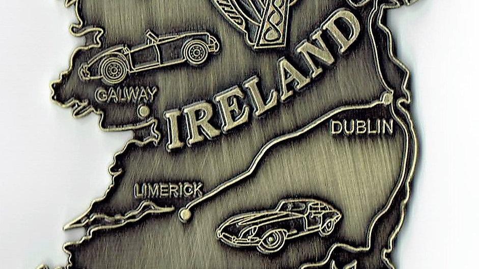Ireland Island car badge, bronze