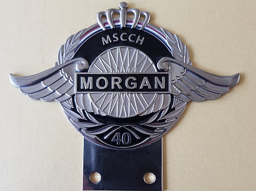 Morgan Sports Car Club Holland 40 Years badge