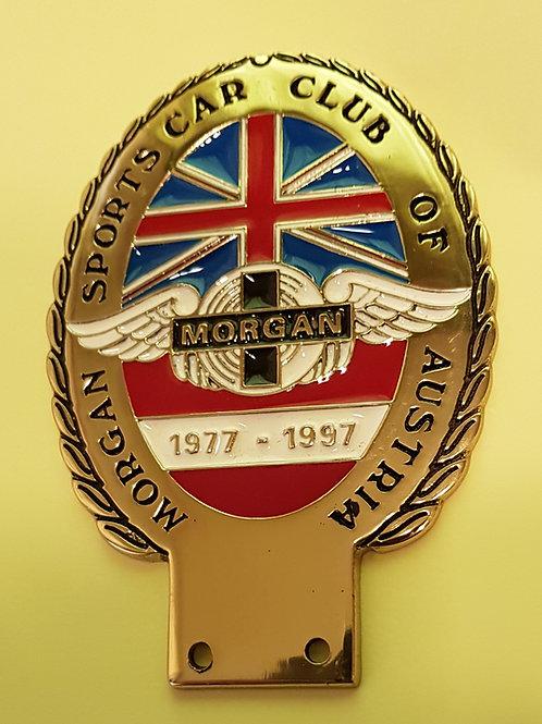 Morgan Sports Car Club Austria 20th Anniversary badge