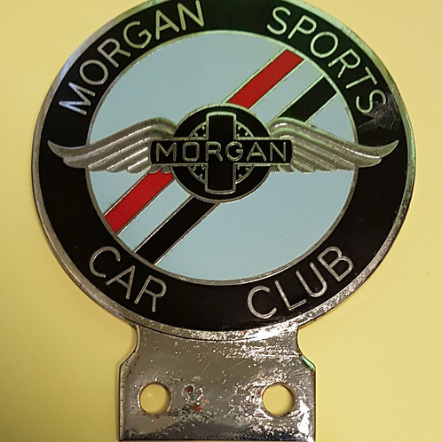 Morgan Sports Car Club badge with patina