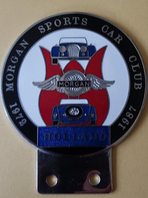 Morgan Sports Car Club Holland 15th Anniversary badge, 1987