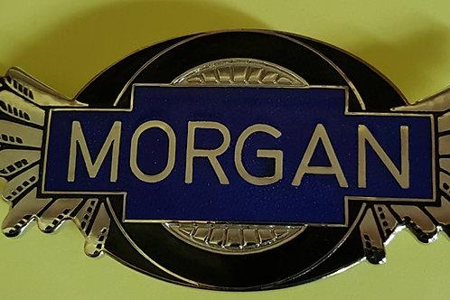 Morgan wings badge, transparent blue