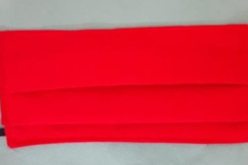 Mouth Mask Red, rectangle