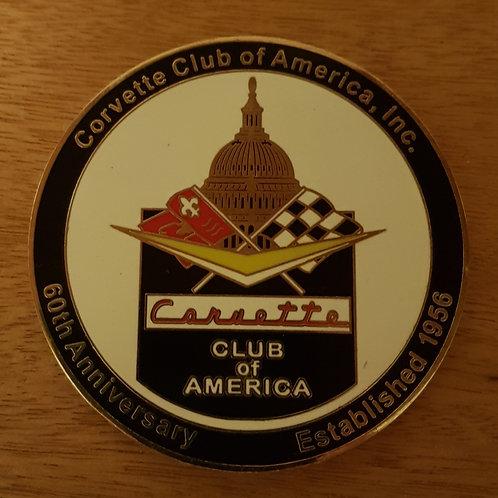 Corvette Club America 60th Anniversary badge