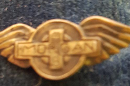 Unique Morgan +8 pin badge, silver
