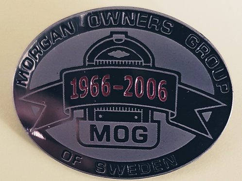 MOG Sweden 40th Anniversary pin badge
