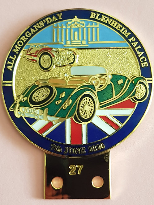 All Morgans' Day 2020 badge, gilt