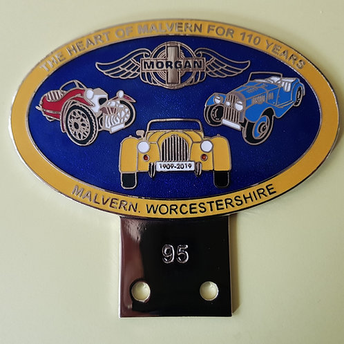 Morgan 110th anniversary badge, yellow rim