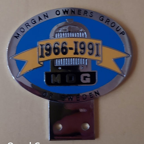 Morgan Owners Group Sweden 25th anniversary badge