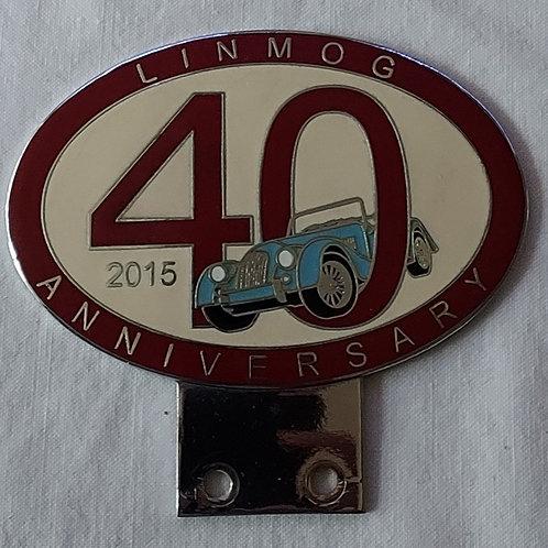 MSCC LinMog 40 years badge, light blue car