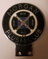 Morgan Plus 4 Club badge, old version