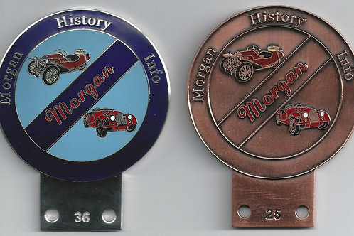 Morgan History Info car badges, #1 set