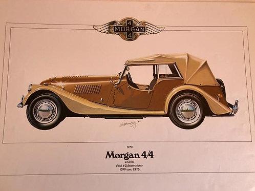 Morgan 4/4 4-seater poster - design Hornberg
