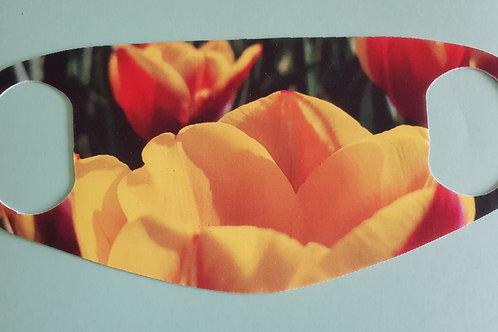 Mouth mask, Dutch tulip image, washable