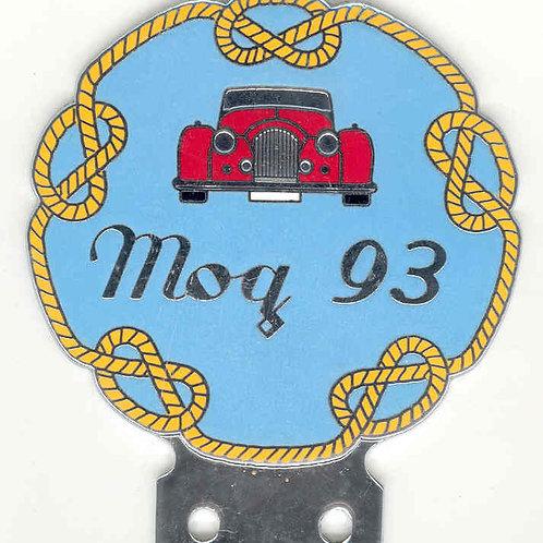 MORGAN SPORTS CAR CLUB, MOG 93 BADGE