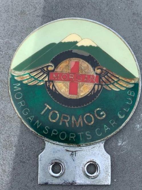 Morgan Sports Car Club Tor Mog badge with patina, in UK 🇬🇧