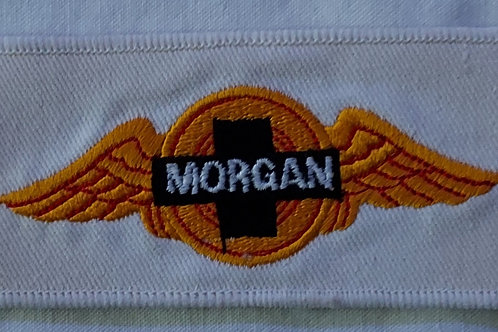 Morgan wings patch, rectangle, yellow/red/black