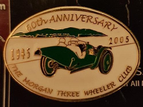 Morgan Three Wheeler Club 60th Anniversary pin
