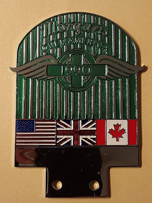 Morgans Over America 1990, long green grille badge