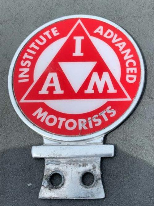 Institute of Advanced Motorists car badge, used