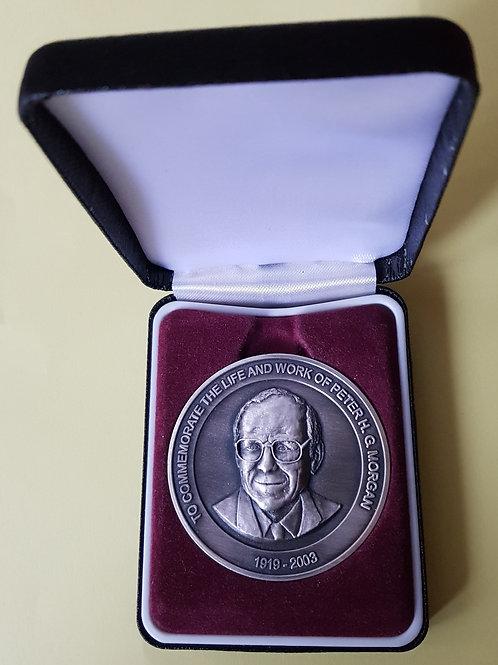 Peter Morgan memorial medal, in case