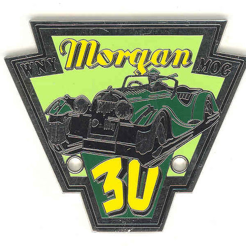 Western New York Morgan Owners Group 30th Anniversary badge