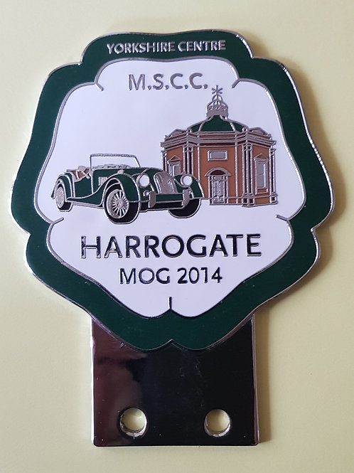 Morgan Sports Car Club MOG 2014 badge, dark green