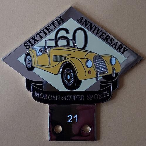 Morgan Plus 4 Super Sports, yellow car, in UK