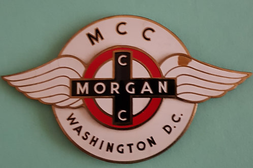 Morgan Car Club Washington DC 1960s badge