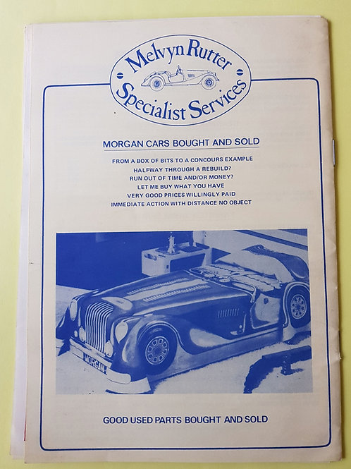 Melvyn Rutter Specialist Services catalogue