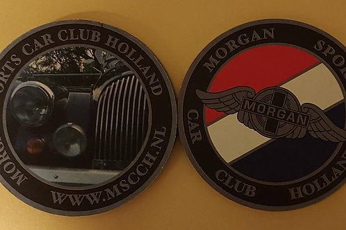 Morgan Sports Car Club Holland beer mats, set of 10