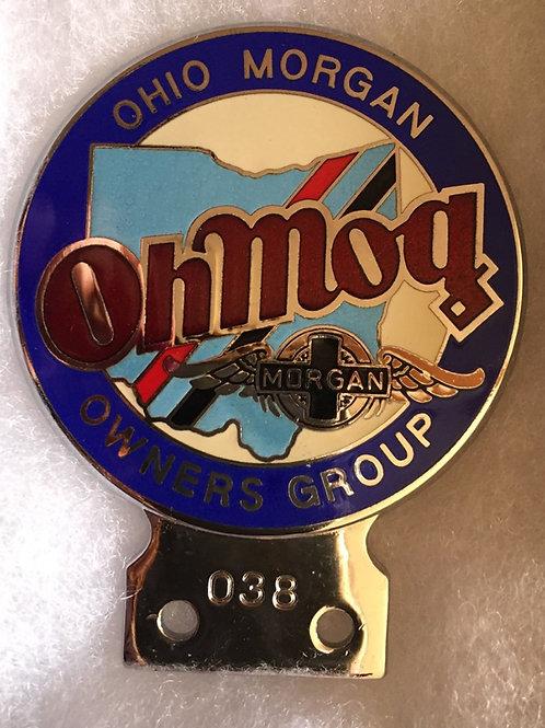 Oh Mog badge, blue rim