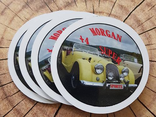 Morgan +4 Super Sports coaster, set of 4