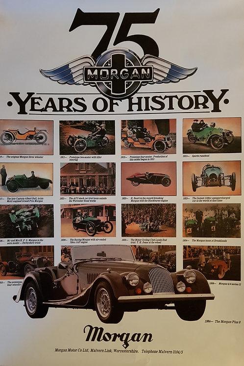 Morgan, 75 Years of History poster