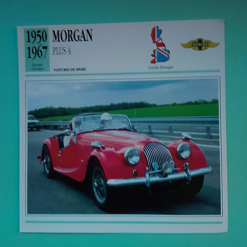 Morgan Plus 4 Collectors' card