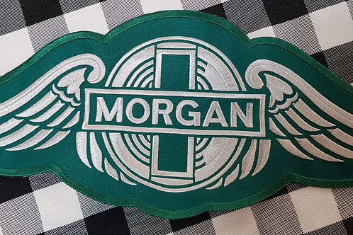 Morgan wings patch, large, green