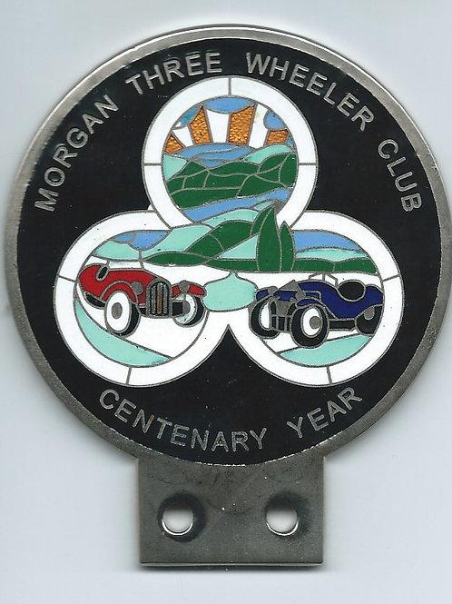 Morgan Three Wheeler Club, Centenary badge