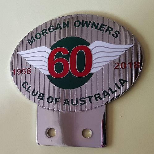 Morgan Owners Club Australia 60th anniversary badge