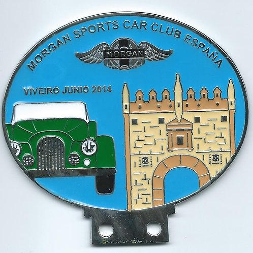 Morgan Sports Car Club España Viveiro 2014, green Morgan