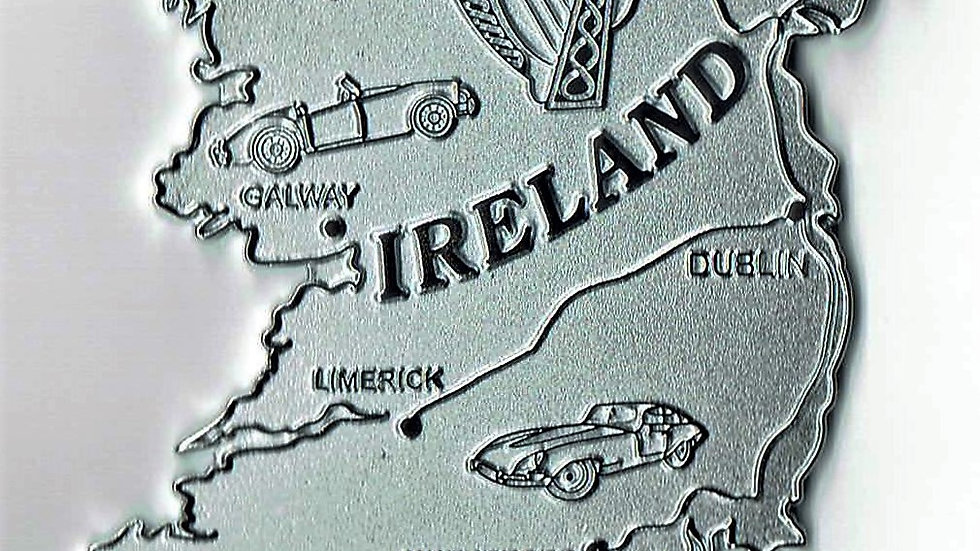 Ireland Island car badge, chrome