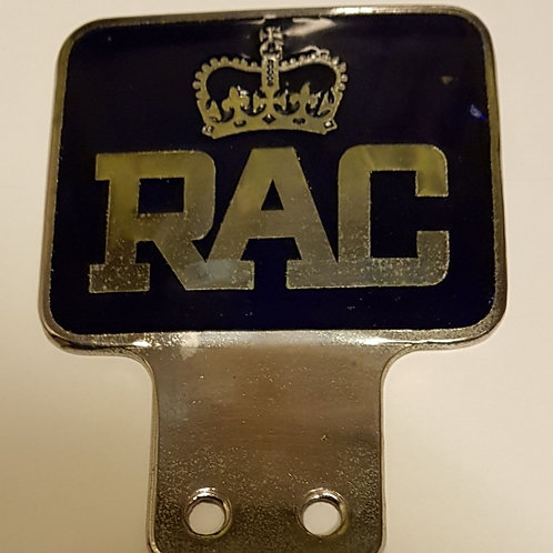 RAC UK badge, rectangle shape, used