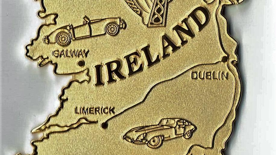 Ireland Island car badge, gilt