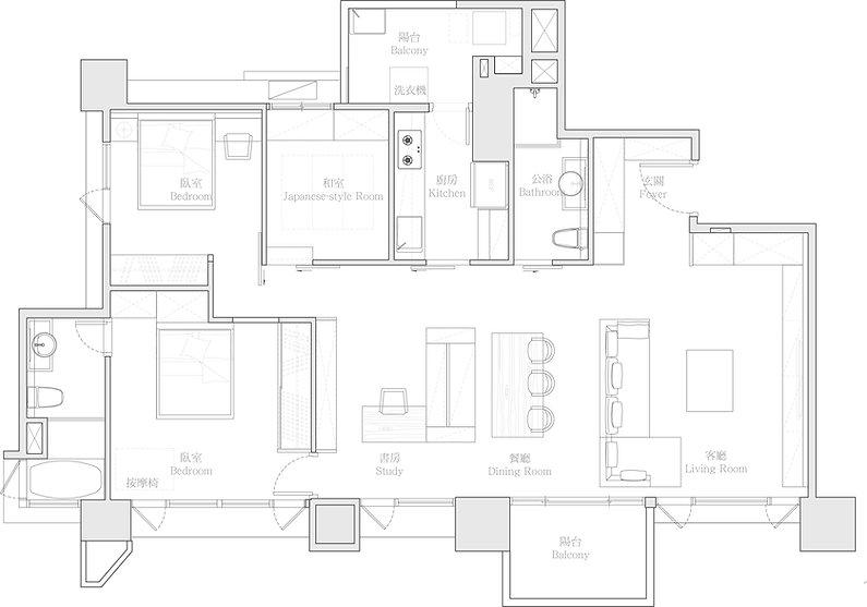 有璽室內設計 YX Interior Design   Project J