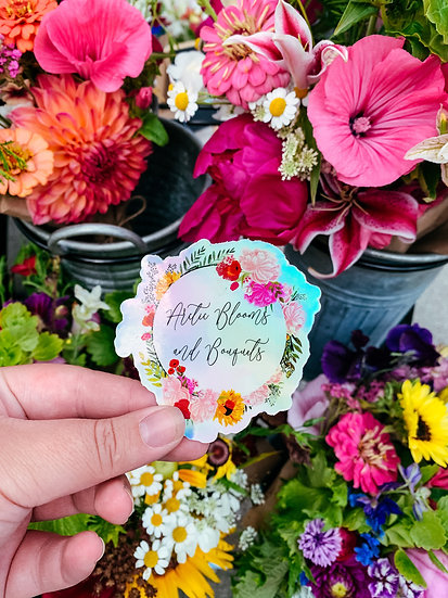 Arctic Blooms Holographic Sticker
