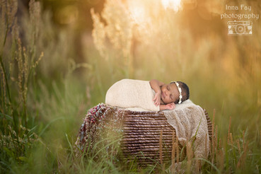 Newborn photo shoot for the cutest baby girl