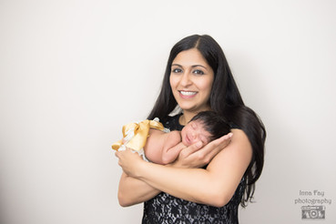 Family pictures from newborn photo session