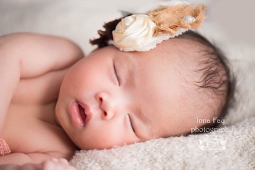 Newborn photography for 1 month old girl