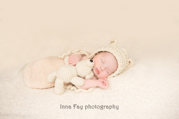 Beautiful baby girl on her newborn photo shoot in NYC