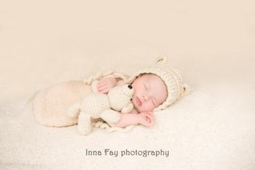 Beautiful baby girl on her newborn photo shoot in NYC