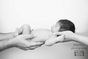 Newborn photo shoot for Indian princess